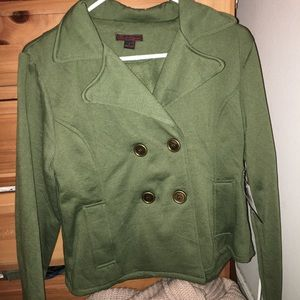 Forest Green button down jacket